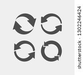 recycling flat vector icons set.... | Shutterstock .eps vector #1302246424