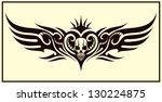 wings tribal tattoo | Shutterstock .eps vector #130224875