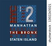 nyc usa  big city typography... | Shutterstock .eps vector #1302265021