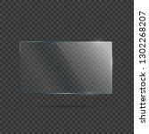 vector of rectangle glass frame. | Shutterstock .eps vector #1302268207