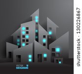 abstract 3d buildings | Shutterstock .eps vector #130226867