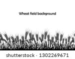 vector silhouette of wheat....   Shutterstock .eps vector #1302269671