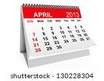2013 Year Calendar. April...