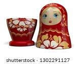 open matryoshka red russian...   Shutterstock . vector #1302291127