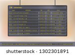airport terminal. flip board... | Shutterstock .eps vector #1302301891