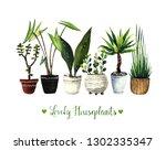 watercolor illustration  lovely ... | Shutterstock . vector #1302335347