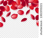 falling red rose petals... | Shutterstock .eps vector #1302353221