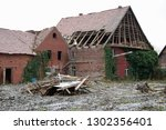 demolition of a traditional... | Shutterstock . vector #1302356401