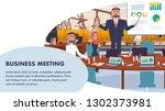 banner business meeting oil... | Shutterstock .eps vector #1302373981