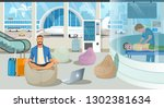 businessman on trip or... | Shutterstock .eps vector #1302381634