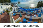 touristic picturesque village... | Shutterstock . vector #1302384907
