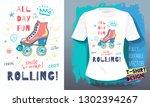 rollers  girls  ride  skate... | Shutterstock .eps vector #1302394267