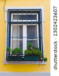 window succulent boxes and...   Shutterstock . vector #1302423607