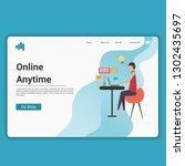 modern landing page template... | Shutterstock .eps vector #1302435697