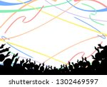 crowd of people popping the... | Shutterstock .eps vector #1302469597