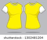 women's t shirt design vector   ... | Shutterstock .eps vector #1302481204