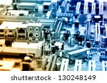 computer motherboard closeup | Shutterstock . vector #130248149