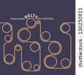 processing belts. conveyor line ... | Shutterstock .eps vector #130250921