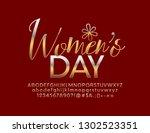 vector elegant women's day...   Shutterstock .eps vector #1302523351