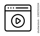 browser video line icon