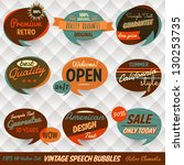 vintage style speech bubbles... | Shutterstock .eps vector #130253735