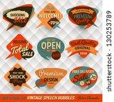 vintage style speech bubbles... | Shutterstock .eps vector #130253789