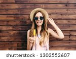 cool hipster student woman... | Shutterstock . vector #1302552607