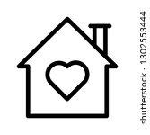 home love line icon   Shutterstock .eps vector #1302553444