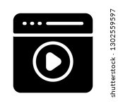 browser video glyph icon