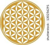 flower of life   vector  ...   Shutterstock .eps vector #130256291