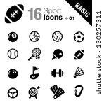 basic   sport icons | Shutterstock .eps vector #130257311