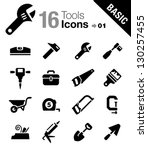 basic   tools and construction... | Shutterstock .eps vector #130257455