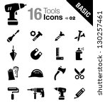 basic   tools and construction... | Shutterstock .eps vector #130257461