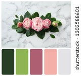 flat lay composition of... | Shutterstock . vector #1302588601