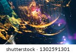 abstract space background  ... | Shutterstock . vector #1302591301