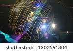 abstract space background  ... | Shutterstock . vector #1302591304
