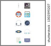 10 audio icon. vector... | Shutterstock .eps vector #1302595207