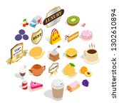 yummy ice cream icons set.... | Shutterstock . vector #1302610894