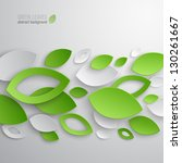green leaves abstract... | Shutterstock .eps vector #130261667
