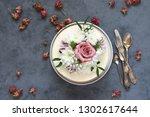 romantic fresh flowers... | Shutterstock . vector #1302617644