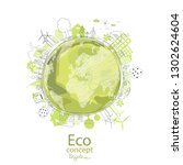 ecology concept.... | Shutterstock .eps vector #1302624604
