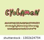 cyclamen flower color alphabet  ... | Shutterstock .eps vector #1302624754