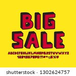 retro alphabet 3d design.... | Shutterstock .eps vector #1302624757