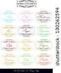 set of various vintage labels... | Shutterstock .eps vector #130262594