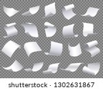 flying paper pages. falling... | Shutterstock .eps vector #1302631867