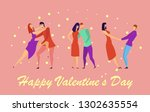 greeting card with lovers.... | Shutterstock .eps vector #1302635554