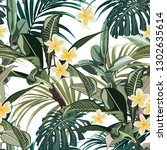 seamless pattern with tropical... | Shutterstock .eps vector #1302635614