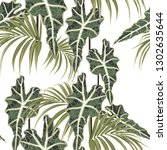 seamless pattern with exotic... | Shutterstock .eps vector #1302635644