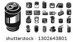 tin can icons set. simple set... | Shutterstock .eps vector #1302643801
