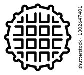 belgian waffle icon. outline...   Shutterstock .eps vector #1302647401